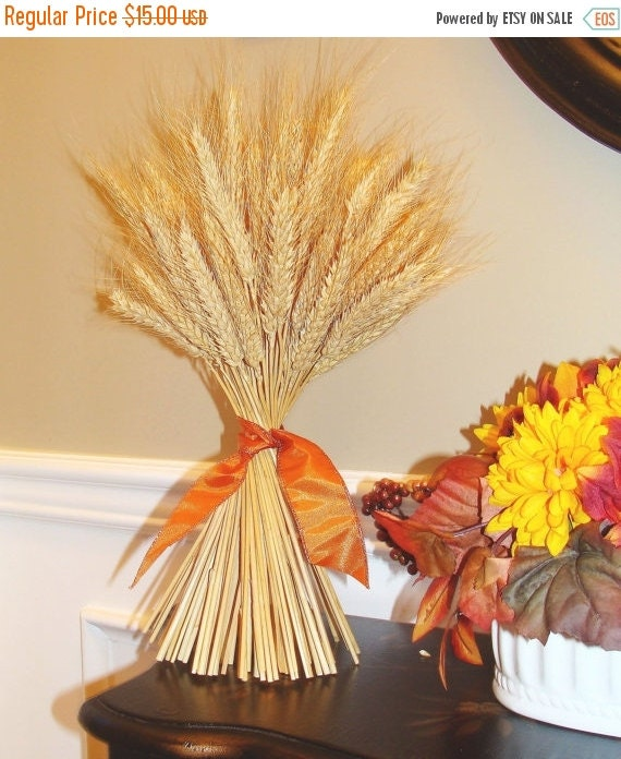 Fall Decor- Wheat Sheaf Thanksgiving Decoration- Thanksgiving Centerpiece Table Decoration- Mantle Decoration- Fall