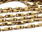 2 M Raw Brass Bar chain (11x2.2mm) Bs 1065