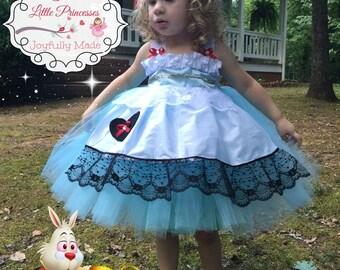 Alice in Wonderland Tutu Dress - Alice Costume