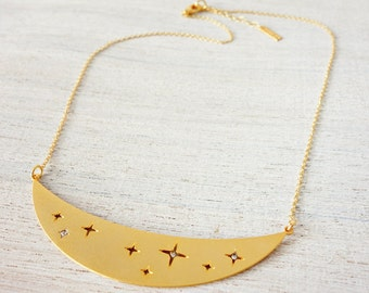 Star Dust Necklace, star necklace, signature necklace, cosmic jewelry