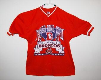 Football 1987 Vintage Super Bowl Denver Jersey