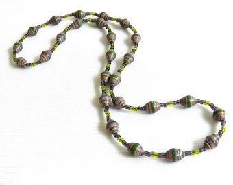 Paper Bead Jewelry - Necklace - #CGM810