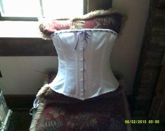 Custom Made Civil War Reproduction Corset for under Hoop Skirt Dress