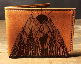 wallet, leather wallet, mens leather wallet, nature wallet