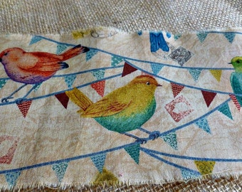 Hand Distressed Birds on a Banner Ribbon!  All Ready for Your Decorating!  Forty Two Inches Long