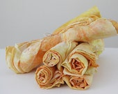 35x35 variegated playsilk - natural play silk scarf - hand-dyed - Buttercup YELLOW