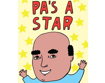 Father's Day Card - Pa's A Star
