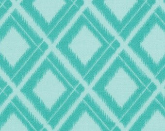 Simply Color Ikat Diamonds Aqua 10806-19 One Yard