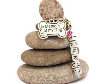 In Memory of my Dog Personalized Rock Cairn, Dog Lover, Desk Gift, Loss, I Miss my Dog, Deceased Pet, Dog Remembrance, Memorial Pet Sympathy