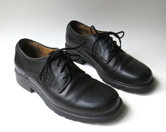 90s vintage Bass Black Leather Oxford Shoes