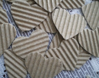 Punched Paper Corrugated Hearts 21