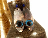 Tribal Jewelry, Primitive, Mixed Metal Earrings