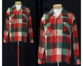 Vintage 70s Weekend at the Lodge Mens Flannel Shirt
