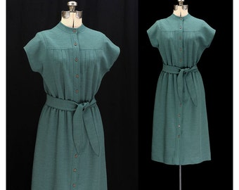 Vintage 70s Goodness in Green Dress