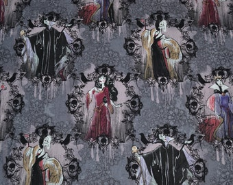 Half Yard of Disney's Cotton Villains Portraits from Springs Creative Products