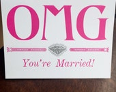 OMG You're Married Card