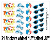 21 Pool Party Planner Stickers Calendar Stickers Scrapbook Stickers Day Planner Stickers PS015
