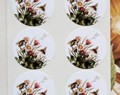 Bee Sticker Flowers Wedding Envelope Seals Party Favor Treat Bag Sticker SP048