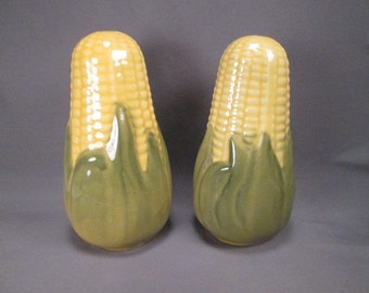 Shawnee Pottery Corn King Salt and Pepper Shakers - Larger Stove Top Size