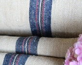 C 449 antique DARKEST INDIGO and RED  upholstery fabric tablerunner cushion 5.79yards  long wedding decor holiday feeling