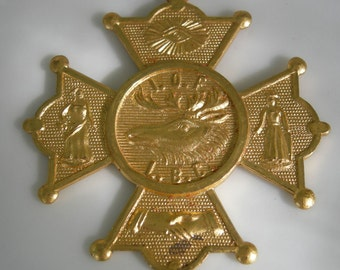 Order of Foresters Medallion, 14K Gold Plated, Pettibone Bros. Mfg, Fraternal Organization, Circa 1900.  REDuCED
