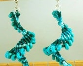 Earrings-Beaded Macrame Spiral--Choose Your Color