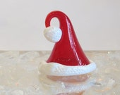 Red Glass Santa Cap, Holi...