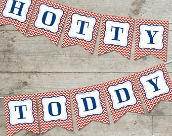 Ole Miss Hotty Toddy Chevron Printable Banner