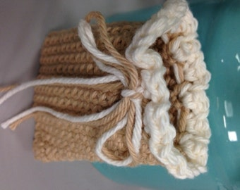 Crocheted Soap Keeper - Saver