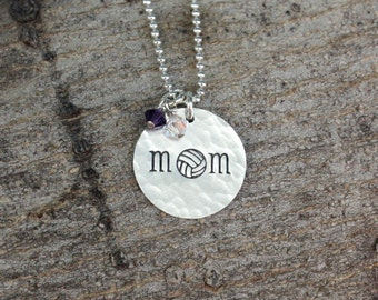 Volleyball Mom Necklace, Volleyball Mom Jewelry, Team Mom Gift Team Spirit Jewelry Sports Necklace Volleyball Jewelry