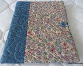 Cottage Chic Floral Quilted Journal Cover with Notebook and Pen