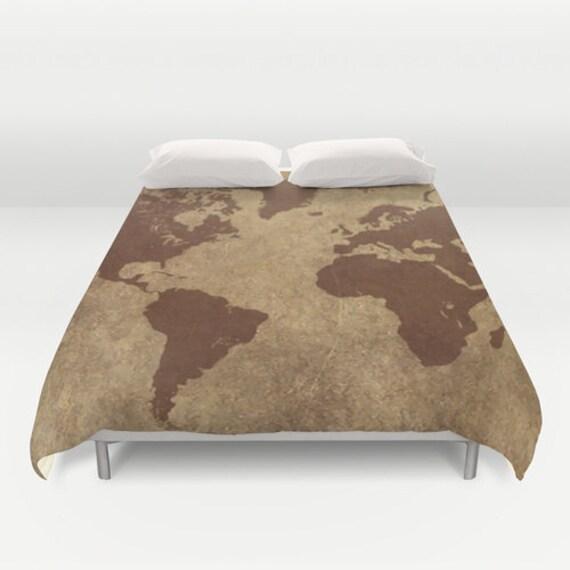 World map duvet cover world map art world map bedding world like this item gumiabroncs Gallery