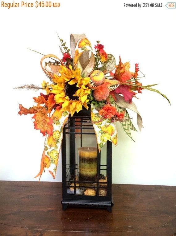 On sale fall lantern swag with pumpkins by