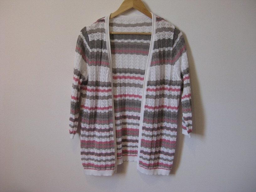 Lace knit cardigan kimono style cardigan hipster stripe