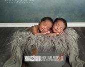 RTS Gray Faux Flokati 40 Colors, Long Sheep Fur LaYeR, AsH Faux Flokati Newborn Photo Props, Photography Props, Baby Props, Fabric, Curly