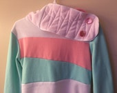 JELLY BEAN - Hoodie Sweatshirt Sweater - Recycled Upcycled - One of a Kind Women - SMALL