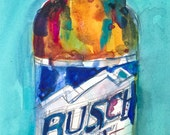Busch Light Beer  Original  Beer Art Watercolor