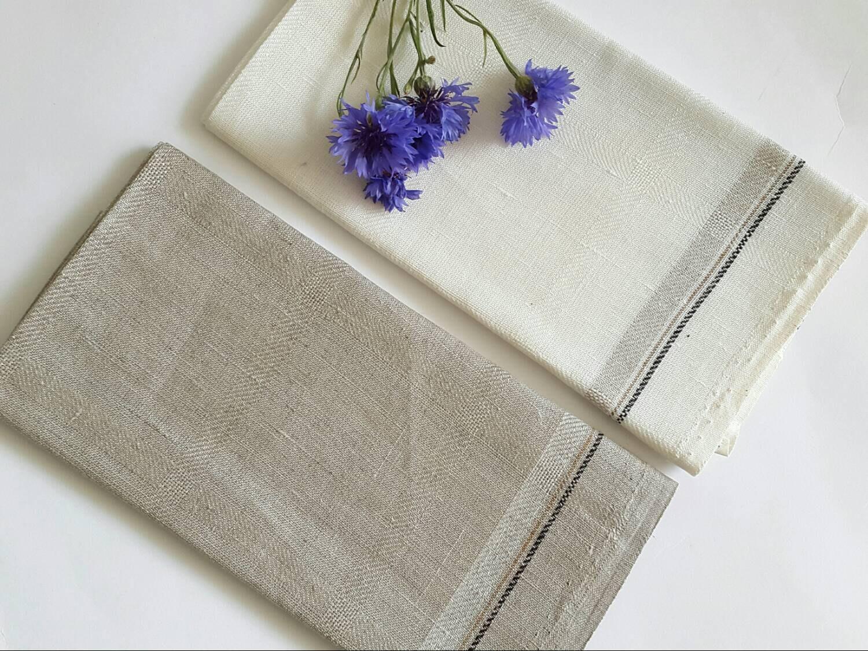 2 pure linen tea towels set of 2 organic linen dish towels. Black Bedroom Furniture Sets. Home Design Ideas