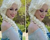 Elsa Frozen Adult Costume Wig Deluxe Version