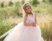 NEW! The Juliet Dress in Pink Blush with Flower Sash - Flower Girl Dress