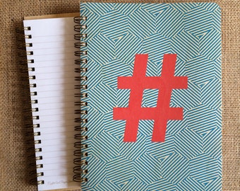 Op ArtHashtag Journal - Real Birch Wood Notebook - J1736