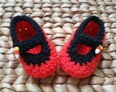 Black Candy Corn Halloween Baby Mary Janes 0-3 Months - shipping included!