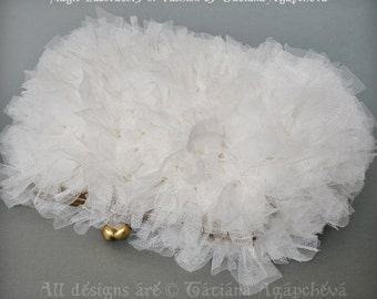 Handbag Bridal Wedding Feathery Ivory Tulle Textures,WHITE ANGEL, Free Shipping, Clutch, Bag, Purse, Soft Mesh Gauze Voile Fabric, 2015