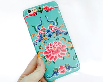 iPhone 6S Case Asian Floral iPhone SE Case, Chinese Dragon iPhone 6 Case, iPhone 6 Plus Case Exotic iPhone 5S Case