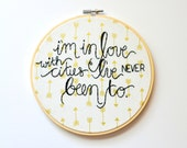 Travel Wanderlust Quote. Handmade 7 inch Embroidery Hoop Art Home Decor. Travel Gifts. Made To Order