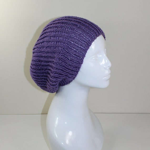 Ribbed Knit Hat Pattern On Circular Needles : 40% OFF SALE Madmonkeyknits Unisex Fishermans Rib Slouch ...