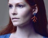 Seashore souvenir coral earrings