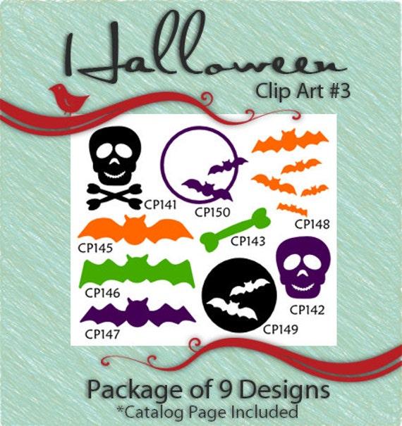 Halloween Clip Art Package 3 Vector Art Vinyl Ready Designs