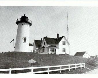 Vintage Cape Cod Postcard - Nobska Light (Unused)