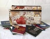 Family Passport Holder - Travel Document Holder - Travel Purse - Multiple Passport Holder - Large Passport Holder-Paris France READY to POST